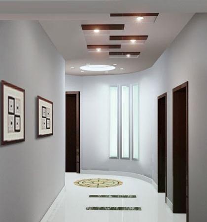 长方形过道吊顶效果图-客厅玄关如何布置 学会家居风水学