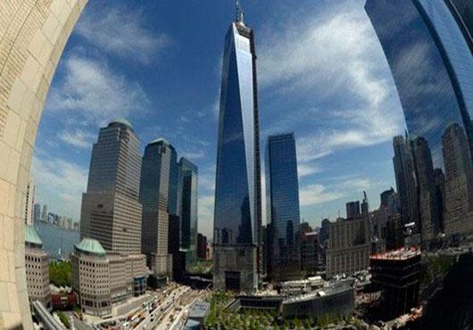 美国纽约双子塔图片