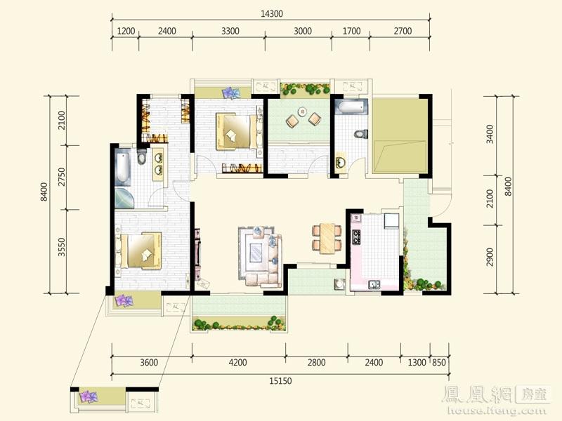 中信未来城1期占地182亩,总建筑面积60余万平方米,由著名的澳大利亚柏涛公司规划设计,采用国内高端住宅流行的ART-DECO建筑风格,产品面积区间为90-280平方米,具有高层、多层、叠拼别墅等多种建筑形态。