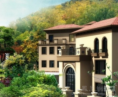 麓山别墅复式楼欧式客厅效果图