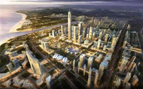 昨日上午,西海岸新区核心区与恒天财富,青房集团,青岛华江南实业有限