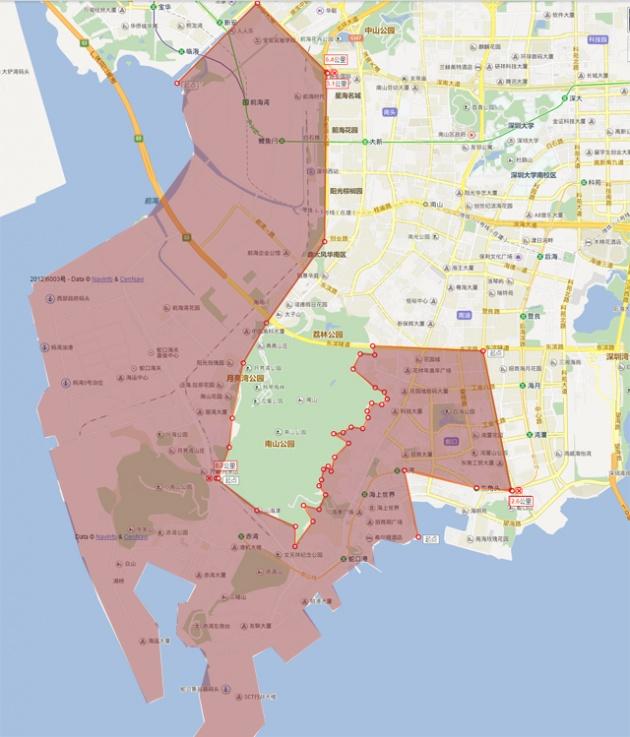蛇口自贸区范围图