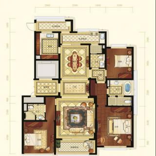一期3号楼标准层A4户型