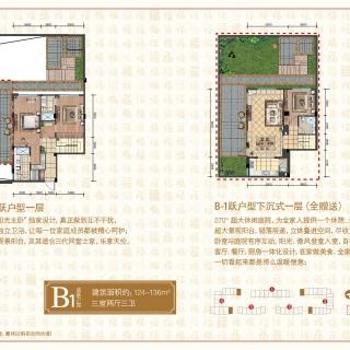 B1底跃户型-三室两厅三卫