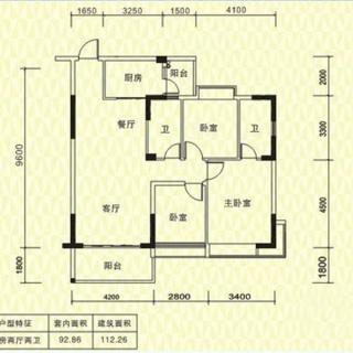 一期C栋01户型112平米