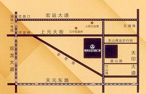 江宁万达广场位置图