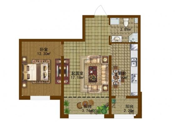 长方形二楼房型设计图展示