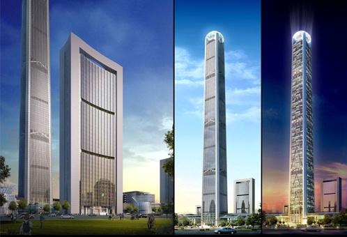 金融企业总部大楼,双子塔