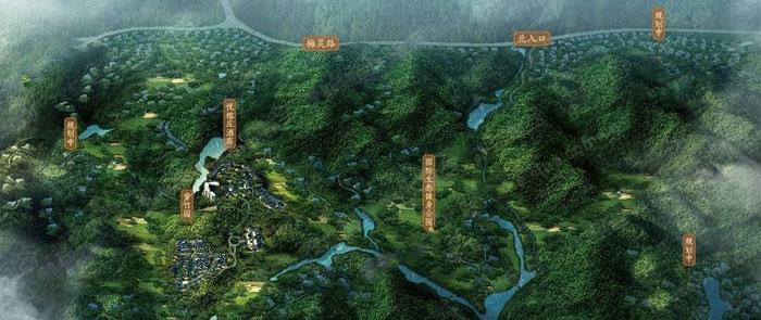 午潮山国家森林公园南麓  西湖区田园风光养老地产项目  主要养老养生