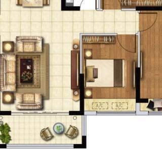 E2户型119㎡三房两厅