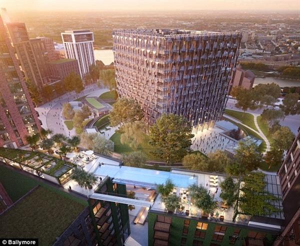 此外,该泳池还配备有酒吧、休闲区、spa区和温室橘园,总造价达10亿英镑(约100亿人民币)。