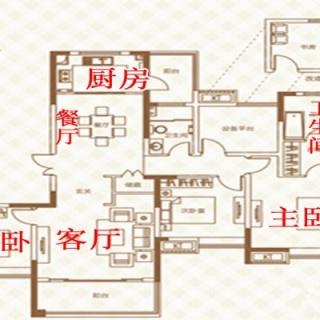 42#01户户型5室2厅1卫1厨