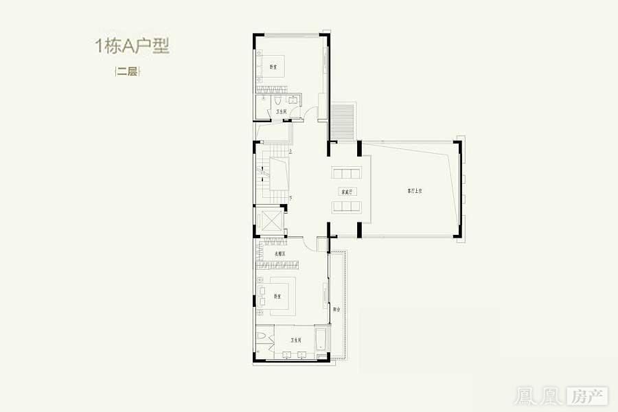 三拼联排别墅平面设计图展示