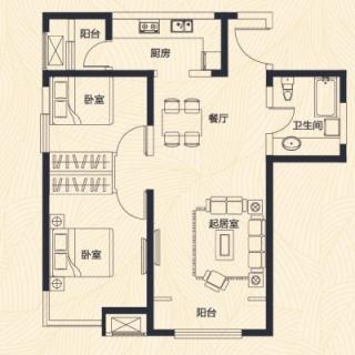 高层1、7、8号楼标准层C户型