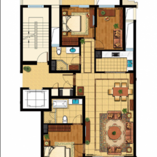 二期小高层公寓G1户型
