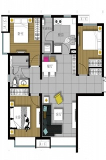 107平米三居户型图