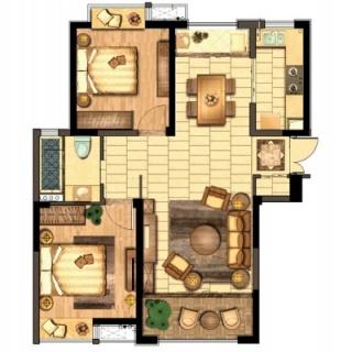 85平两室两厅