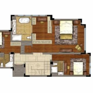 世家墅叠加中套下叠地上二层