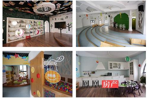 整个幼儿园是地中海式风格,南面采光好通风佳的区块全是幼儿教室用房