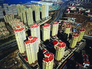 航拍青岛西海岸新区特色高楼 貌似楼宇博物馆