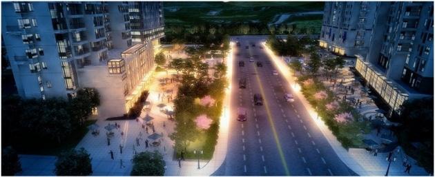 沿松岭路南下直通滨海大道,沿途有青岛二中,中国海洋大学,青岛科技