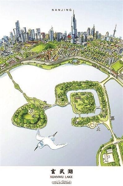新闻>建筑 近日,一组南京地标建筑手绘图在微博热传,别出心裁的绘画