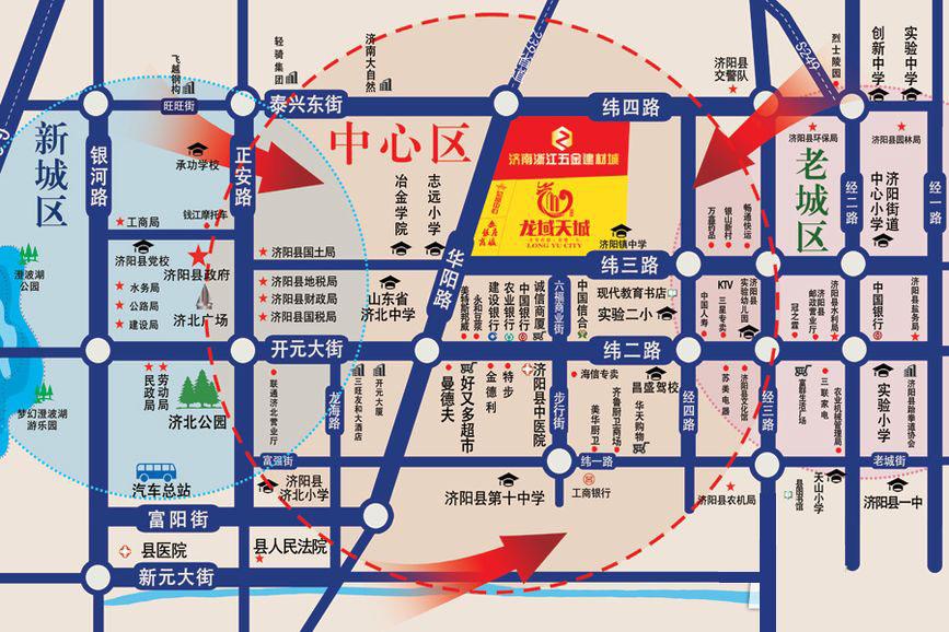 济阳县地图_济阳县城市街道图