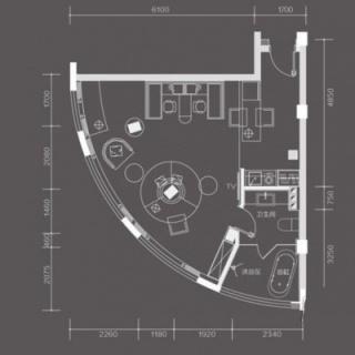 B栋08单元户型图