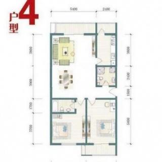 一期8号楼标准层A户型