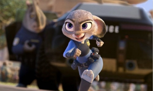 活波可爱,充满干劲的小兔子朱迪,外表玩世不恭内心善良敏感的帅狐狸