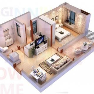 A1户型49-52平的一房
