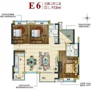 E6户型三房