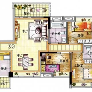 4栋A梯05单元户型图【在售】