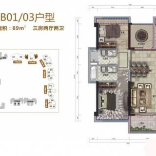 5号楼B01/03户型