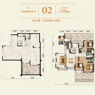 23#、25#名邑系洋房首层02户型