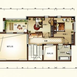 一期EH户型联排别墅二层