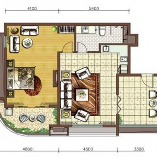阳光假日二期养生公寓B4-a户型