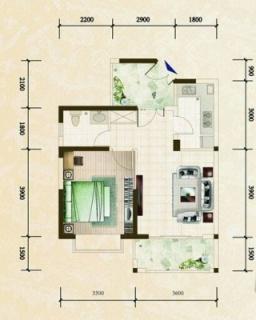 柏林园一房公寓户型图