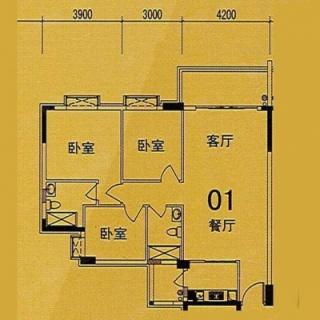 10座(F1座)01单位户型图