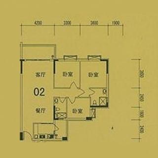 4栋(F3)02单位户型图