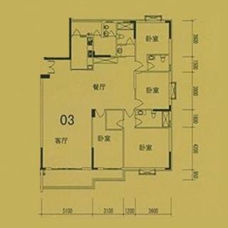 4栋(F3)03单位户型图