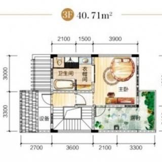 B1栋联排别墅3F