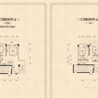 C2栋06单元户型图