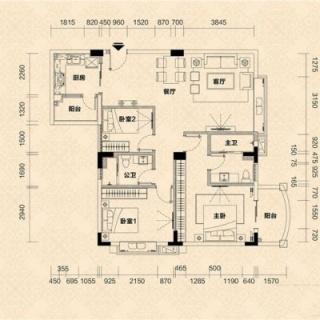 C2栋04单元户型图