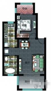 二区洋房E户型图