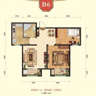 高层11号楼4-24层B6户型