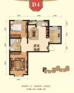 高层19、20号楼1-24层B4户型