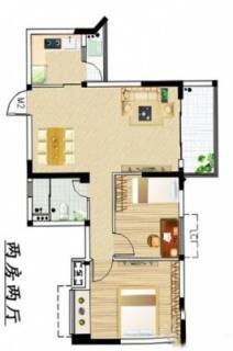 两房两厅户型2