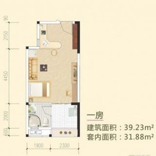 多层一房户型1