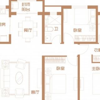 10号楼首层户型(三)